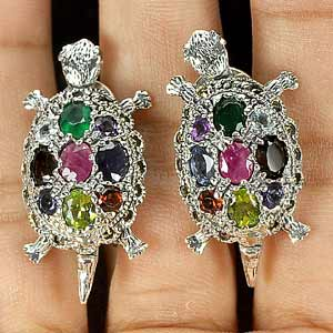 Awesome Mix Gems 925 Silver Jewelry Earrings