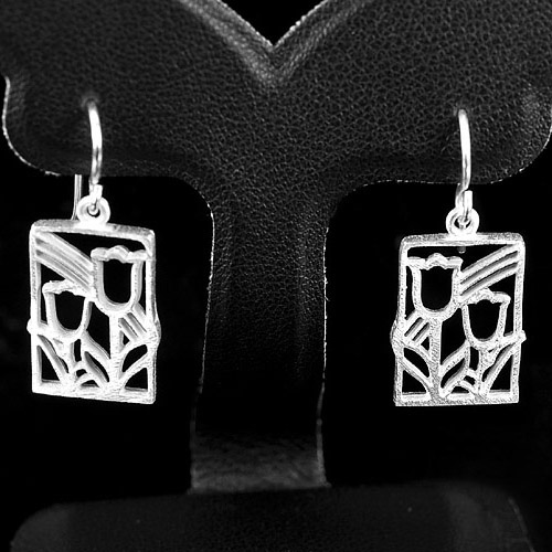 1 Pc. / $ 9.79 Beauteous Wholesale Natural 925 Sterling Silver Jewelry Earrings