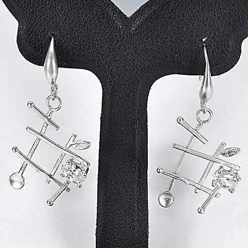1 Pc. / $ 7.34 Wholesale Delightful 70 Sterling Silver Jewelry Earrings
