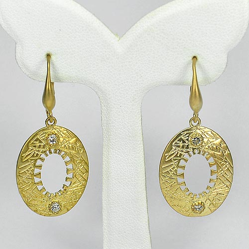 1 Pc. / $ 7.34 Wholesale Charming 70 Sterling Yellow Silver Jewelry Earrings