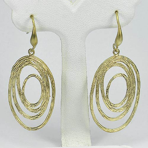 1 Pc. / $ 11.48 Wholesale Lovely 70 Sterling Yellow Silver Jewelry Earrings