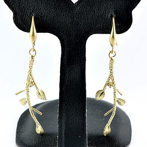 1 Pc. / $ 6.52 Wholesale Charming 70 Sterling Yellow Silver Jewelry Earrings