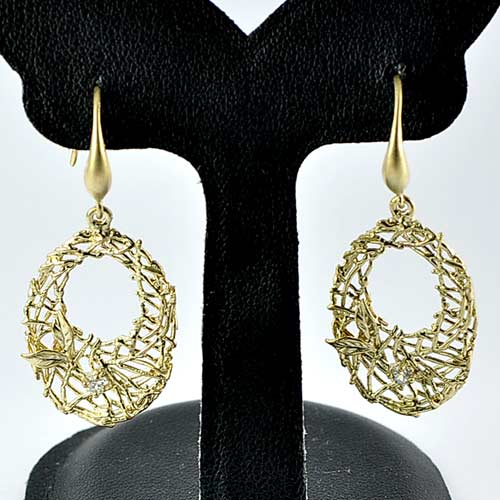 1 Pc. / $ 7.20 Wholesale Alluring 70 Sterling Silver Yellow Jewelry Earrings