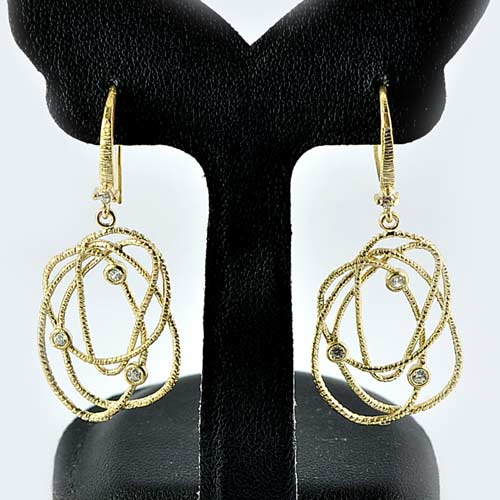 1 Pc. / $ 8.08 Wholesale Nice 70 Sterling Yellow Silver Jewelry Earrings