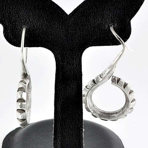 13.31 G. Nice 70 Sterling Silver Jewelry Earrings Whorl