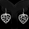 1 Pc./ $ 8.89 Wholesale Natural 925 Sterling Silver Jewelry Earrings Heart Shape