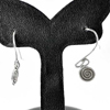 1.68 G. Delightful 70 Sterling Silver Jewelry Earrings Small Coil