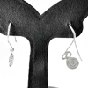 1.68 G. Beautiful 70 Sterling Silver Jewelry Earrings Small Coil