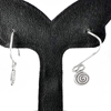 1.68 G. Lovely 70 Sterling Silver Jewelry Earrings Small Coil