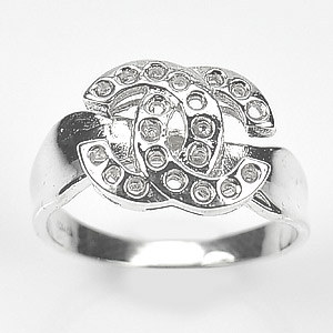 3.15 Grams. Round Gem Solid 925 Starling Silver Semi Mount Setting RING