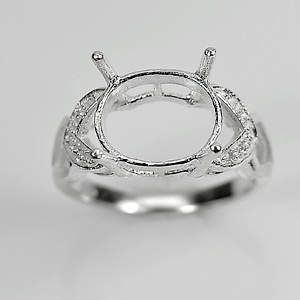 Wholesale 5 Pcs / $35.33 Solid 925 Sterling Silver Semi Mount Setting Ring