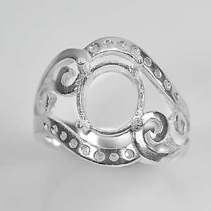 Wholesale 5 Pcs / $ 63.42 Semi Mount 925 Sterling Silver Jewelry Ring Sz.7