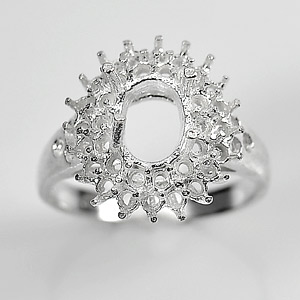 Wholesale 5 Pcs / $43.21 Solid 925 Sterling Silver Semi Mount Ring Setting