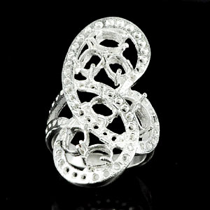 Wholesale 5 Pcs / $ 68.58 Semi Mount 925 Sterling Silver Jewelry Ring