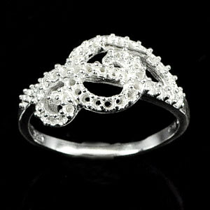 Wholesale 5 Pcs / $34.28 Semi Mount Sterling Silver 925 Jewelry Ring