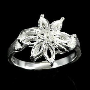 Wholesale 5 Pcs / $40.67 Solid 925 Sterling Silver Semi Mount Setting RING