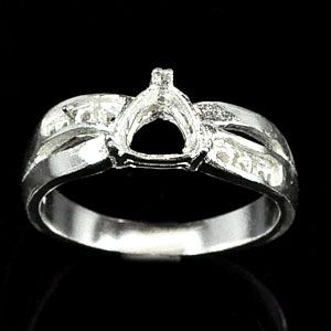 Wholesale 5 Pcs / $39.62 Solid 925 Sterling Silver Semi Mount Ring Size 7