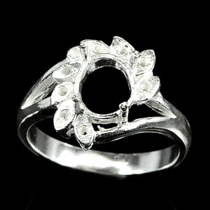 Wholesale 5 Pcs / $41.72 Sterling Silver 925 Semi Mount Setting Ring