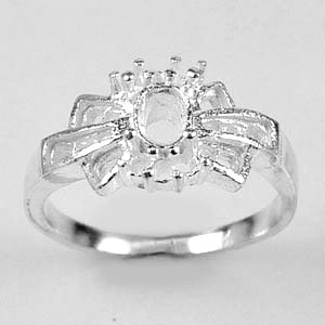 Wholesale 5 Pcs / $39.10 Sterling Silver 925 Semi Mount Jewelry Ring