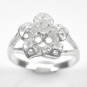 Wholesale 5 Pcs / $ 38.22 Sterling Silver 925 Semi Mount Ring