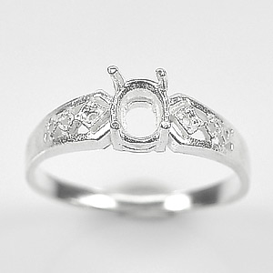 Wholesale 5 Pcs / $30 Sterling Silver 925 Semi Mount Jewelry Ring