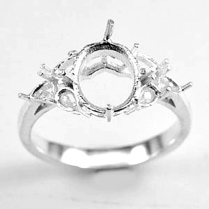 Wholesale 5 Pcs / $40.98 Solid 925 Sterling Silver Semi Mount Setting Ring