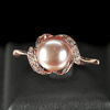 3.37 G. Jewelry Silver Rose Gold Natural Pinkish Purple Pearl Ring Size 9.5