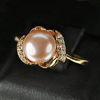 3.50 G. Vivid Jewelry Copper Silver Pinkish Purple Pearl Ring Size 8