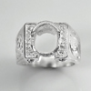 11.30 G.  Jewelry Solid Sterling Silver 925 Ring Size 9 Setting Semi Mount