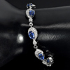 10.22 G. Natural Blue Kyanite 925 Sterling Silver Bracelet Jewelry Length 8 Inch