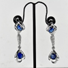 8.24 G. Natural Blue Kyanite 925 Sterling Silver Jewelry Earrings Length 2 Inch.