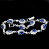 10.19 G. Natural Gems Kyanite Real 925 Silver Jewelry Bracelet Length 8 Inch.