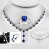 925 Sterling Silver Jewelry Sets Necklace Earrings Bracelet and Ring Size 6