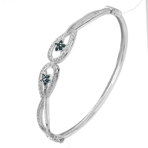 30 G. 3 Pcs. Diameter 61 x 55 mm. Real 925 Sterling Silver Jewelry Bangle