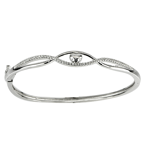 24.81 G. 3 Pcs. Geniune Size 58 Mm. 925 Sterling Silver Jewelry Bangle