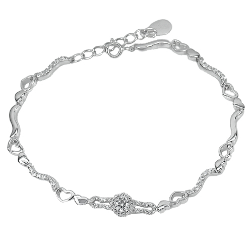 17.95 G. 3 Pcs. Wholesale Real 925 Sterling Silver Bracelet 8 Inch.