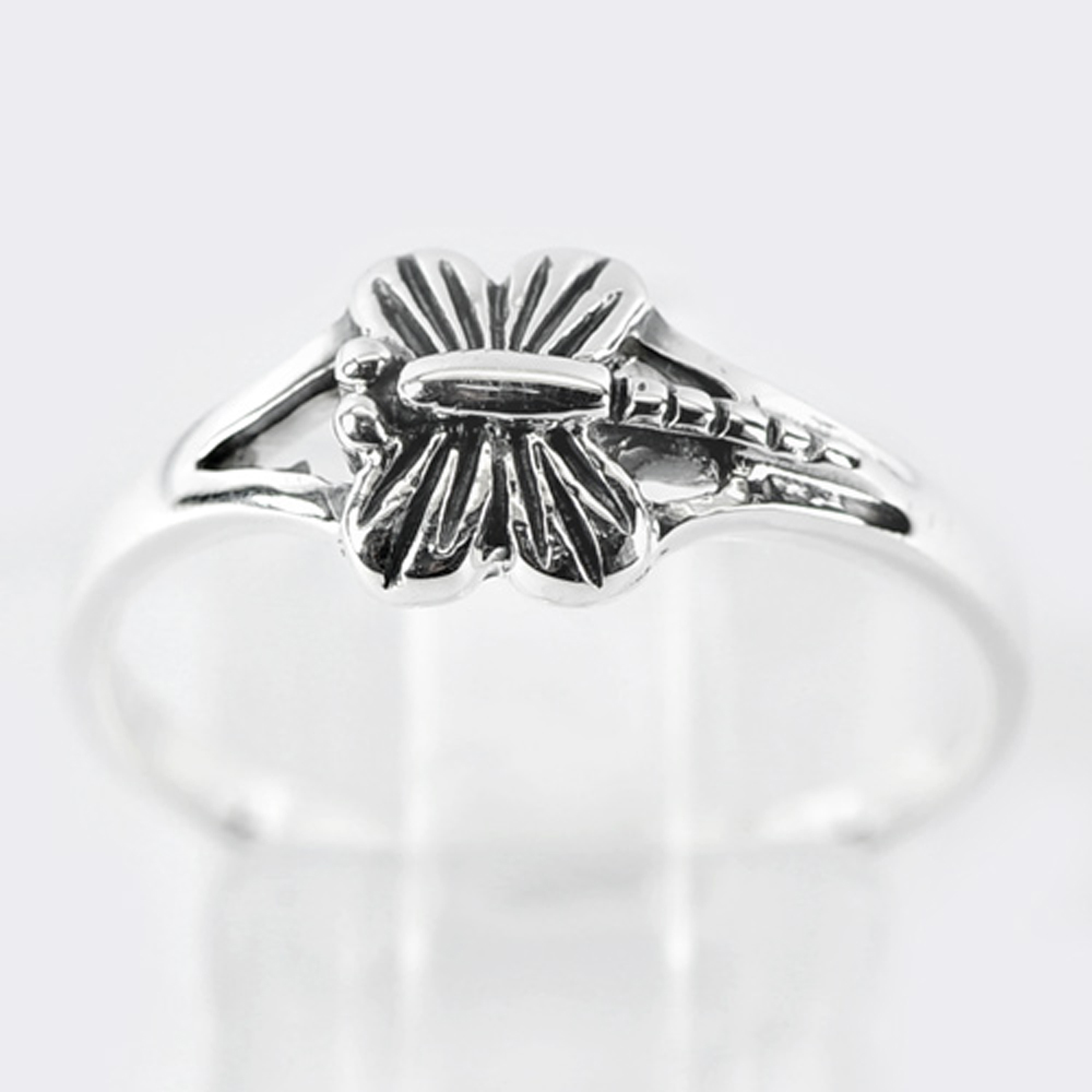 1.93 G. Real 925 Sterling Silver Dragonfly Ring Jewelry Size 7 Thailand