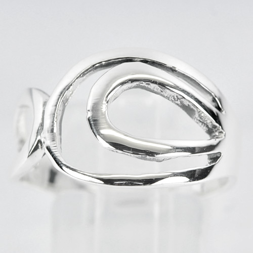 2.98 G. New Style 925 Sterling Silver Freeform Ring Jewelry Size 7 Thailand