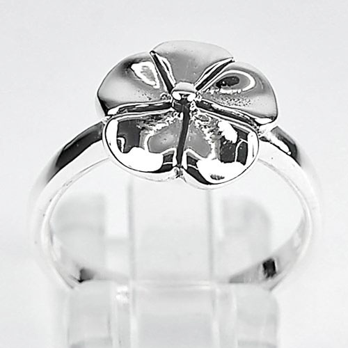 4.42 G. New Fashion Jewelry Real 925 Sterling Silver Plumeria Ring Size 9