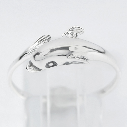 1.90 G. Beautiful Design Dolphin Real 925 Sterling Silver Jewelry Ring Size 7