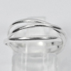 1.70 G. Real 925 Sterling Silver Jewelry Smooth Three Loop Circle Ring Size 6