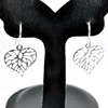 2.05 G. Real 925 Sterling Silver Heart Dangle Earrings Jewelry From Thailand