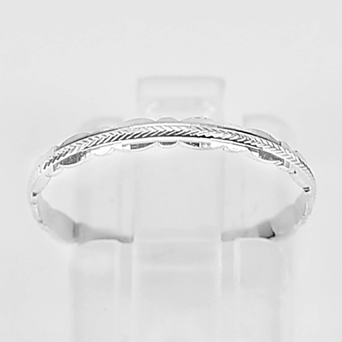 0.60 G. Good Jewelry Design 925 Sterling Silver Ring Size 6.5 Thailand