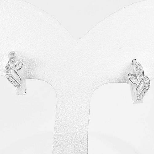 1 Pair Good Design 925 Sterling Silver Jewelry Loop Earrings