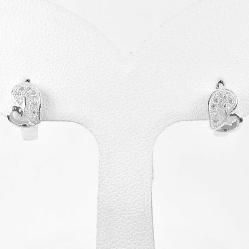 1 Pair Lovely Design 925 Sterling Silver Jewelry Loop Earrings