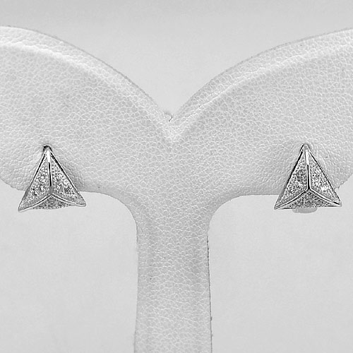 1 Pair 925 Sterling Silver Jewelry Loop Earrings Nice Design