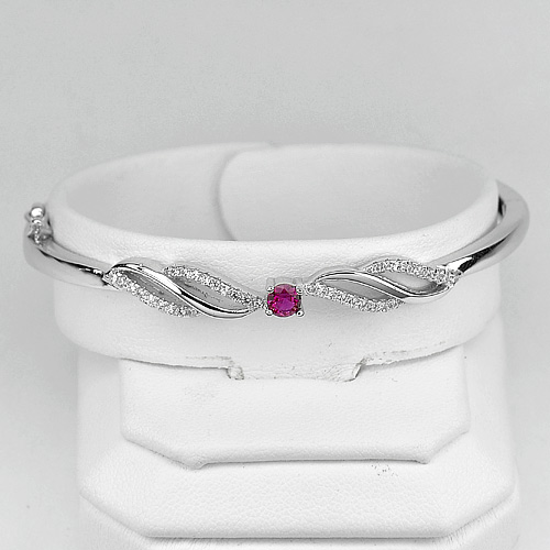 8.71 G. Beautiful Style 925 Sterling Silver Jewelry Bangle Diameter 54 mm.