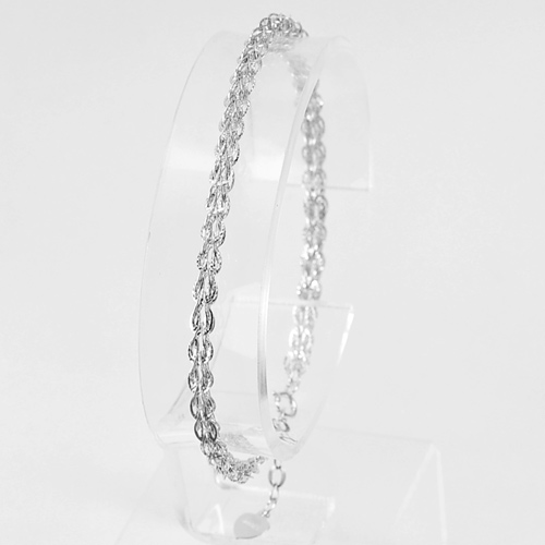 2.92 G. Good Jewelry Design Real 925 Sterling Silver Bracelet Length 7 Inch.