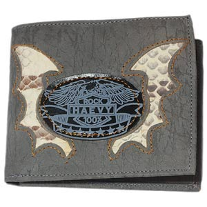 46.78 G. New Design Genuine Leather Wallet Gray Eagle