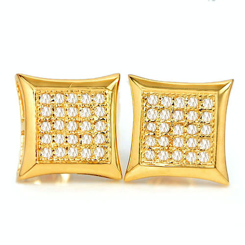 1.77 G. Natural Loose Diamond 10K Solid Gold Earring